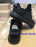 Wholesale 2016 Top Quality Kanye Milan West Yeezy Boost Classic Black Men s Fashion Trainers Shoes With Box Sports Shoes