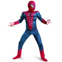 amazing performances - The Amazing Spiderman Movie Classic Muscle Child Costume Kids Superhero Carnival Fancy dressing up Age