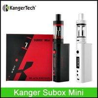 Wholesale Kanger Subox mini starter kit Sub tank mini ml atomizer Variable Wattage KBOX Kangertech Box Mod E cigarette vapor