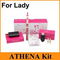 athena red - Athena Kit For Lady E Cig Kit New Arrivel Electronic Cigarette Kit Puffs Atomatic Airflow Control Vaporizer Gift Kit Box