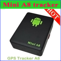 Wholesale DHL Mini Global Realtime GPS Tracker mini A8 GSM GPRS GPS Tracking Device Track through both PC Smartphone APP For children pet car JF B9