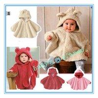 baby jaket - new freeshipping baby winter coat child cloak fleece children winter jaket baby robe hooded baby outwear childen s