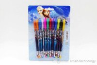 Wholesale Hot sale new set Princess Anna Multi Color Ballpoint Pens Elsa Stationery Set Toys