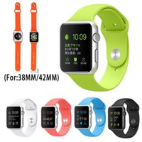 Wholesale 1 Soft Silicone Wearables Watch band Strap For Apple Watch iwatch Wrist Watch band bracelet Fitness Replacement Straps mm mm Sport