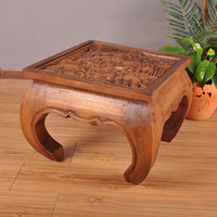 antique carved chairs - Thai crafts Southeast Asian wood sculpture carved furniture Tables and chairs coffee table tea table