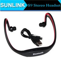 Wholesale S9 Stereo Headset Sports Bluetooth Speaker Headset Wireless Neckband Headphones In Ear Earphone Hifi Music Player For iPhone Plus Note