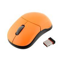 al por mayor receptor usb rapoo-Ratón Receptor inalámbrico USB de los ratones USB al por mayor 2.4G de Rapoo 1100X-Naranja para los ordenadores portátiles de sobremesa PC Wireless Mouse Rapoo