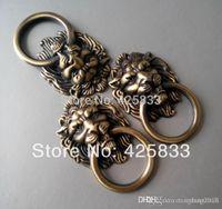 antique cabinet door hardware - Antique Bronze Cartoon Lion Head Cabinet Handles Knobs Drawer Pulls Closet Drawer Door Hardware A3
