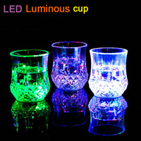 Wholesale LED Light Glow Plastic Beer Beverage Cup For Weddings Party Bar Christmas LED induction Cup luminous cup