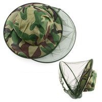 Wholesale New Insect Mosquito Net Mesh Face Fishing Hunting Outdoor Camping Hat Protector Cap