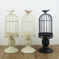 handmade candles - Handmade metal candleholder vintage home decorative table floor tall birdcage candle holder for wedding