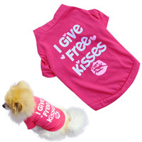 Wholesale New Arrivals Cute Pet Dog Supplies Puppy Cat Apparel Vest Coat Clothes T shirt Cotton Blended XS L MA24