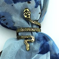 Wholesale Vintage Silver Snake Shape Rings with Silver Golden Color H154005