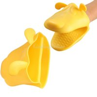 Wholesale Cute Dog Lady Kitchen Cooking Microwave Oven Mitt Insulated Non slip Glove K5BO