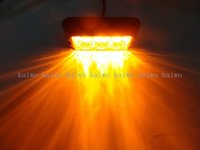 benz grille - Amber LED Waterproof Grille Car Truck Strobe Flash Emergency Warning Light NEW