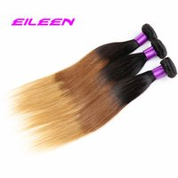 Cheap Hot Selling 4Pcs Peruvian Virgin Hair straight weave Ombre Hair Extensions 6A Unprocessed Peruvian three tone straight Hair1b#4 27