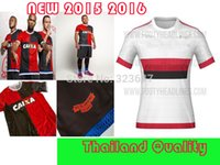 quality white shirts - NEW camisa do flamengo home red white soccer jersey thai quality brazil football uniform t shirt Leaked Version