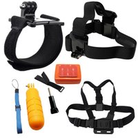 Wholesale 6 in Family Kit Go Pro Accessories Set Chest Belt Head Band Wrist Strap Floating Bobber Selfie Monopod For GoPro Hero234 SJ4000 WI81