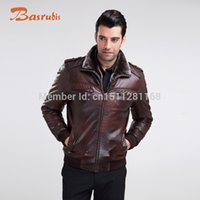 fake collars and cuffs - Fall fee fake leather and fake fur lining and collar rib cuff man short coat and leather jacket