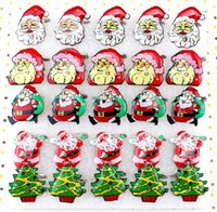 Wholesale Santa Supplies Toys Christmas Flash Brooch Badge Brooch Random Shipping Santa Claus Christmas Tree Christmas Bells LED Brooch