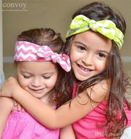 baby bunny ears - Newborn Baby Girls Wavy Bright Elastic Bunny Ear Headbands Infant Kids Headbands Hair Bands Children Headwear Hair Accessories KHA220
