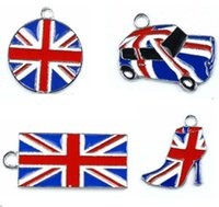 best metal mix - Mixed Union Jack Enamel Metal Charm Pendants Jewelry Making For Best Gifts New