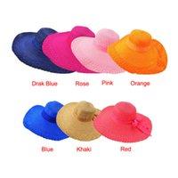 big beautiful men - Essential Fashion Beautiful Women Wide Large Brim Floppy Summer Beach Sun Straw Hat Cap With Big Bow