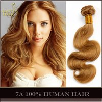 russian hair - Grade A Honey Blonde Russian Body Wave Hair Weave Color Russian Virgin Remy Human Hair Wavy Bundles Cinderella Girl Hair Extensions