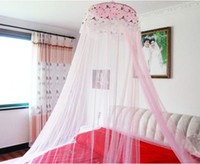 round beds - 2014 New Round Lace Curtain Dome Bed Canopy Netting Princess Mosquito Net Pink