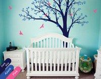 baby nursery room colors - Large tree wall decal birds custom colors nursery wall decor for baby room cmX254cm