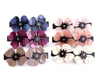 acetic acid plants - High grade Hair Flower simple hollow spring clip barrette high grade material FS00127 acetic acid
