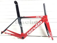 Wholesale cervelo s3 carbon road bicycle full carbono fiber frame bike black red frameset parts glossy matte surface BBRIGHT is available