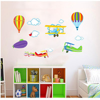 balloons graphics - Wall stickers home decoration Three generations of removable wall stickers living room bedroom children s room hot air balloon aircraft stic