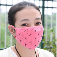 Wholesale Hot sale outwear guaze respirator mask for human lovely knot autumn face mask Space cotton mix color bag drop shipping C17