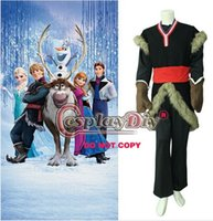 Wholesale Custom Made Kristoff Costume From Frozen Movie Cosplay Costume For Adult for Halloween and Christmas party high quality