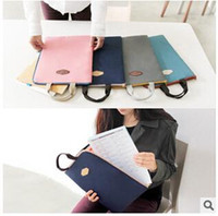 Wholesale 3 colors High Quality Handle Bag Portable Carry Pouch briefcase File holder Cover Briefcase for iPad Mini Protective handbag LJJC1356