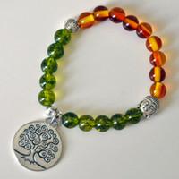 amber healing - SN0217 peridot bracelet Men buddha bracelet tree of life amber bracelet healing yoga mala bracelet