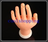 Wholesale DHL Freeshipping painting practice tool Adjustable Nail Art model Fake Hand for Training and Display