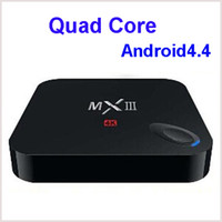 Wholesale MXIII MX III M82 Amlogic S802 Quad Core Cortex A9 Android WiFi TV Box GB RAM GB Storage Media K HDMI Wifi XBMC Ethernet MX3 Retail