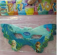 Wholesale Frozen party eye masks for children kids New styles Elsa Anna cartoon mask party supplies holiday festival birthday party decorations