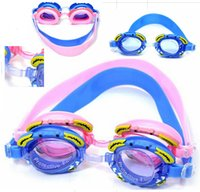 Wholesale 2015 New Children Weterproof Anti fog Swimming Goggles Glasses Swim galsses Kids Swim Eyewear Goggle with Retail Box for Children Girls Boys