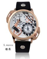american time clock - New Brand S waves American Men s Date Leather Wristwatches Casual Fashion DZ Army Hour Clock Dial Masculino Relogio Reloj Quartz Watches