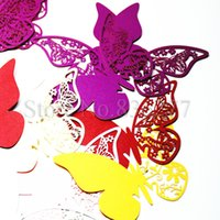 Wholesale 60 cup cards cup decorative butterfly shaped cake decorating tools cupcake topper for birthday party