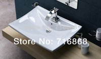 Wholesale TD3005 White Ceramic Vessel Sink Bathroom Bowl Wash Basin Bathroom Basin Sink