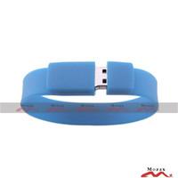 usb wristband - 4GB Wrist Band USB Drive Silicone PVC Wristband Memory Flash Thumb Stick Suit for Customized Logo Service Mixture Colors