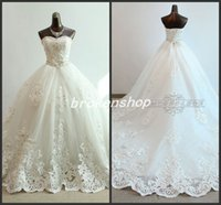 Cheap Ball Gown Ball Gown Wedding Dresses Best Real Photos Sweetheart Lace Bridal Gown