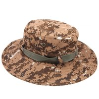 Wholesale Men Outdoor Quick Dry Fishing Hats Military Camouflage Wide Round Brim Caps Outdoor Fishing Camping Hiking Sun Cap Men Hat
