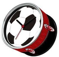 acm free - ACM Sport Football Magnetic Wall Clock Tin Photo Frame Clock Desk Clock Kitchen Magnetic Table Clocks On Back