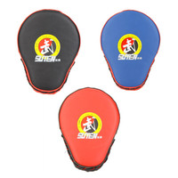 Wholesale 3 Colors Taekwondo Muay Thai Boxing Pads PU Leather Boxing Gloves Mitt MMA Training Target Karate Sanda Focus Punch Pad Y0011