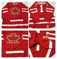 Cheap Mens #1 Luongo Red 2010 Canada Team Vancouver Winter Olympic Hockey Jerseys Ice International Sports Stitched Premier Authentic Sport Cheap